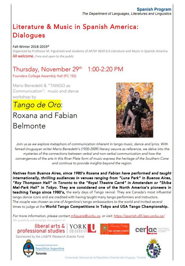 Tango de Oro event poster